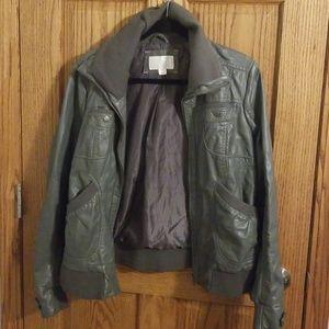 Exhilaration Leather Like Jacket